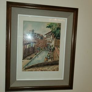 Framed Wall Art - water color